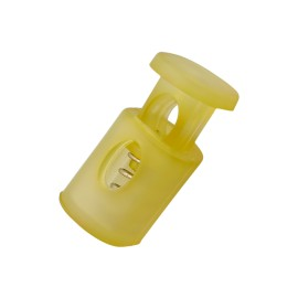 18 mm Translucent Polyester Cord Lock Stopper - Yellow