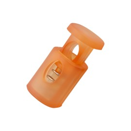 18 mm Translucent Polyester Cord Lock Stopper - Orange