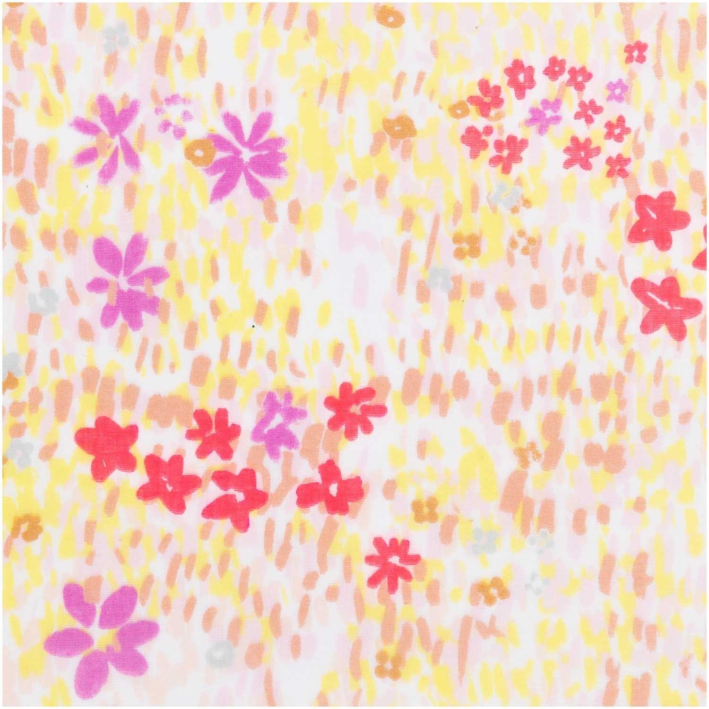 aa3020f00d Double Gaze de coton Rico Design Crafted Nature - Champs de fleur- MPM