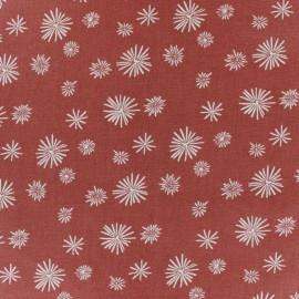 Tissu coton cretonne Zelum - Tomette x 10cm