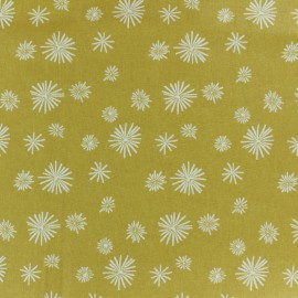 Cretonne cotton fabric - mustard yellow Zelum x 10cm