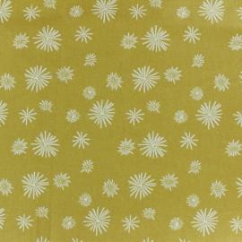 Tissu coton cretonne Zelum - jaune moutarde x 10cm