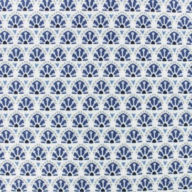 Cretonne cotton fabric - Blue Sao Bento x 10cm