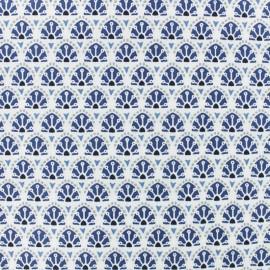 Tissu coton cretonne Sao Bento - bleu x 10cm