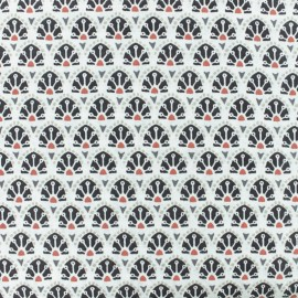 Cretonne cotton fabric - Grey Sao Bento x 10cm