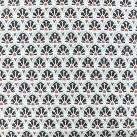 Cretonne cotton fabric - Grey Sao Bento x 10cm
