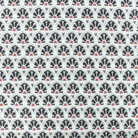 Tissu coton cretonne Sao Bento - gris x 10cm