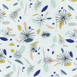 Tissu coton cretonne Arty - bleu/blanc x 10cm