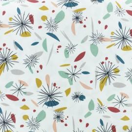 Cretonne cotton fabric - Blue/white Arty x 10cm