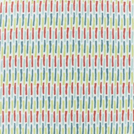 Cretonne cotton fabric - white Lanka x 10cm