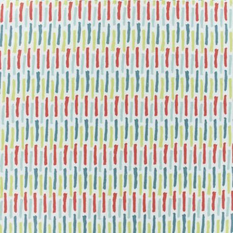 Tissu coton cretonne Lanka - blanc x 10cm