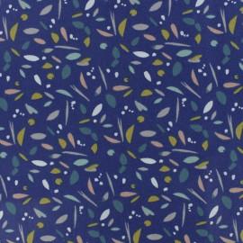 Cretonne cotton fabric - blue/white Patna x 10cm