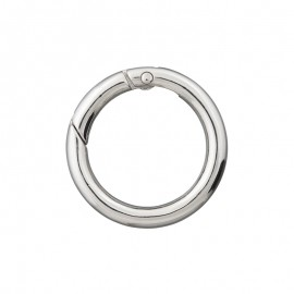 Round Non Locking Metal Carabiner - Silver