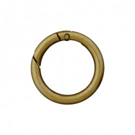 Round Non Locking Metal Carabiner - Brass