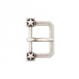 20 mm Metal Belt Buckle – Ancient Silver Glory