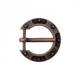 15 mm Metal Buckle – Ancient Cooper Horseshoe