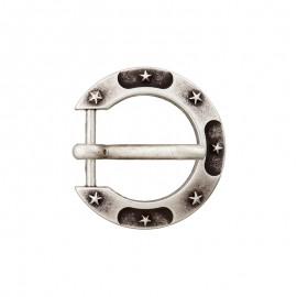 Boucle Métal Fer à Cheval 15 mm - Vieil Argent