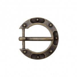 15 mm Metal Buckle – Bronze Horseshoe
