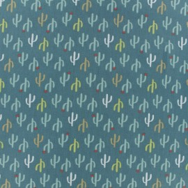 Cretonne cotton fabric - Green Desierto x 10cm