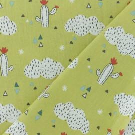 Cretonne cotton fabric - Lime Green Pueblo x 10cm