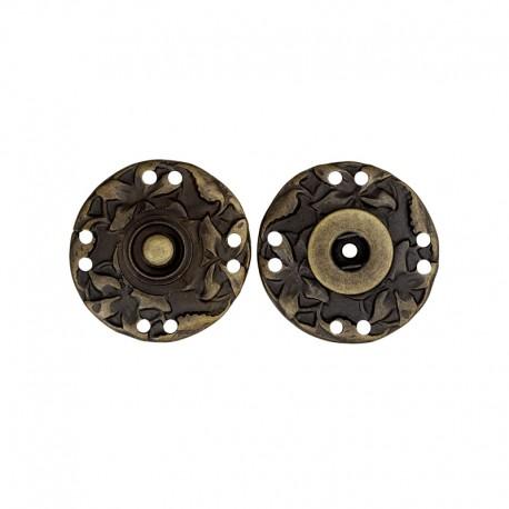 28 mm Metal Snap Button - Bronze Sculpt