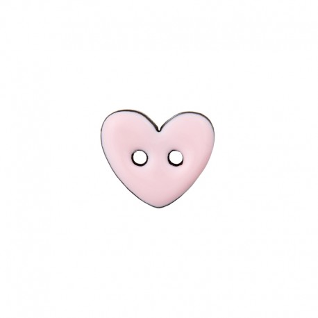 Bouton Coco Joli Coeur - Rose