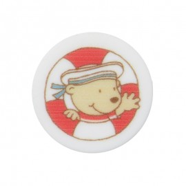 18 mm Polyester Button - Buoy Enzo the Sailor