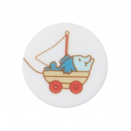 18 mm Polyester Button - Toy Enzo the Sailor
