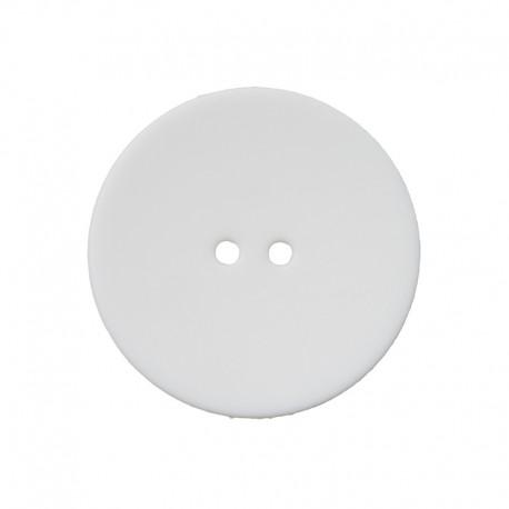 Bouton Polyester Ultra Plat - Blanc
