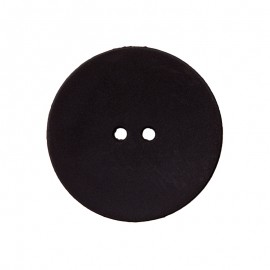 Polyester Button - Black Ultra Thin