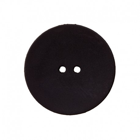 Bouton Polyester Ultra Plat - Noir