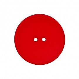 Bouton Polyester Ultra Plat - Rouge