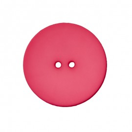 Polyester Button - Fuchsia Ultra Thin