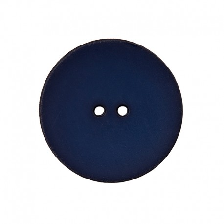 Bouton Polyester Ultra Plat - Bleu Nuit