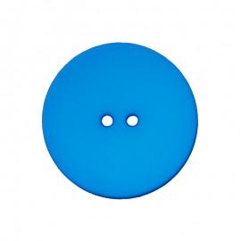 Bouton Polyester Ultra Plat - Bleu Roi