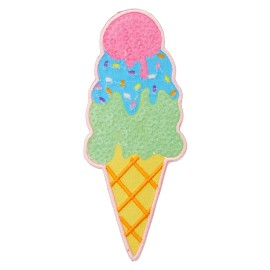 3 Scoops Ice Cream Iron-On Patch