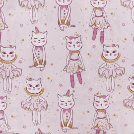 Tissu coton cretonne Deli-cats - rose x 10cm