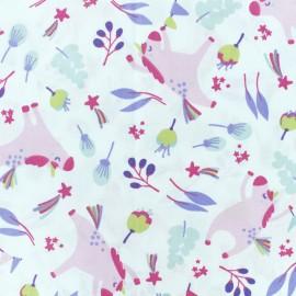 Tissu coton cretonne Unistar - blanc x 10cm