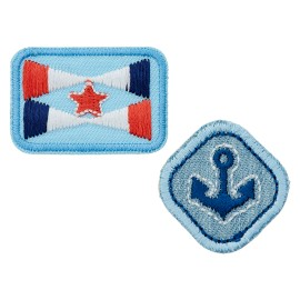 La Marine Collection Iron-On Patch - Anchor