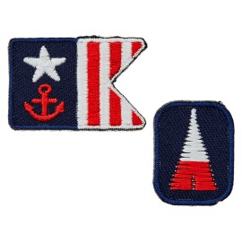 La Marine Collection Iron-On Patch - Flag