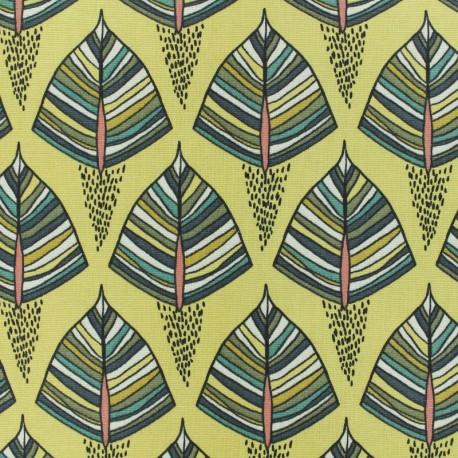 Tissu Toile de coton Ekozi - Jaune x 10cm
