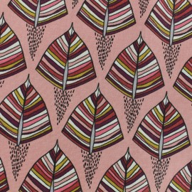 Cotton canvas fabric - Pink Ekozi x 10cm