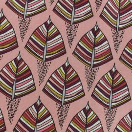 Tissu Toile de coton Ekozi - Rose x 10cm