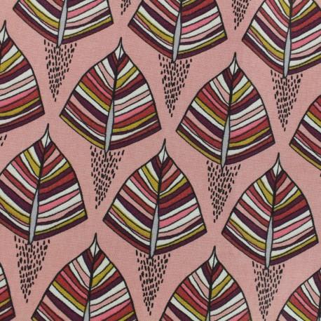 Cotton canvas fabric - Pink Ekozi x 10cm
