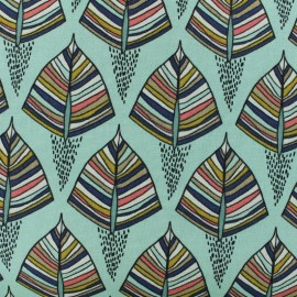 Cotton canvas fabric - light green Ekozi x 10cm