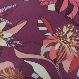 Tissu Toile de coton Khéops - violet  x 50cm