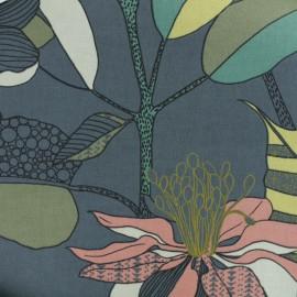 Cotton canvas fabric - grey Khéops x 50cm