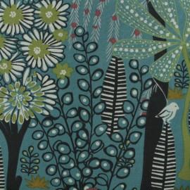 Cotton canvas fabric - peacock green Idaho x 50cm