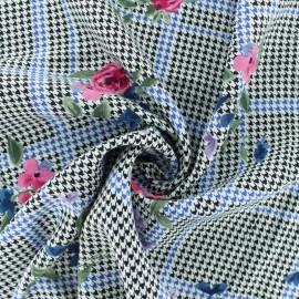 Tissu Viscose Aimée - noir/blanc x 10cm