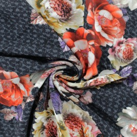 Stenzo Viscose jersey  fabric - Grey Nicole x 10 cm
